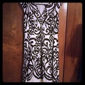 Flashy black and white dress